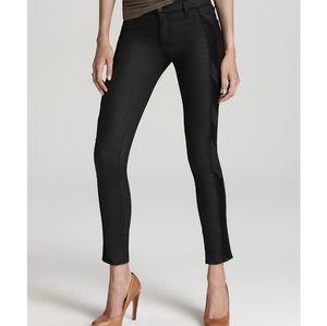Rag & Bone Embroidered Stripe Skinny Jeans 28